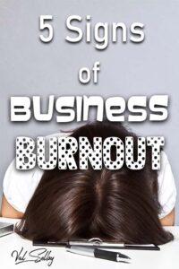 signs biz burnout