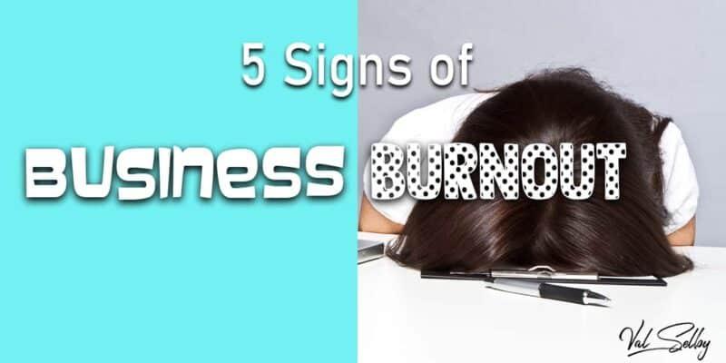 signs business burnout